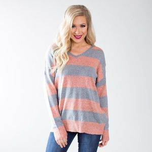 Tops - Vici Collection Lattice Back Sweater